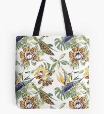 Jungle Animal Print Orchids Tote Bag