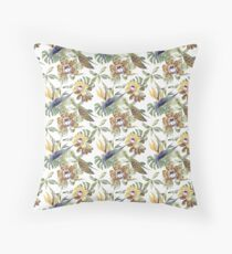 Jungle Animal Print Orchids Floor Pillow