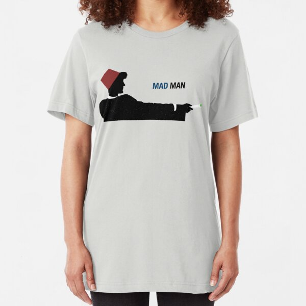 Mad Man (with a Box) Slim Fit T-Shirt