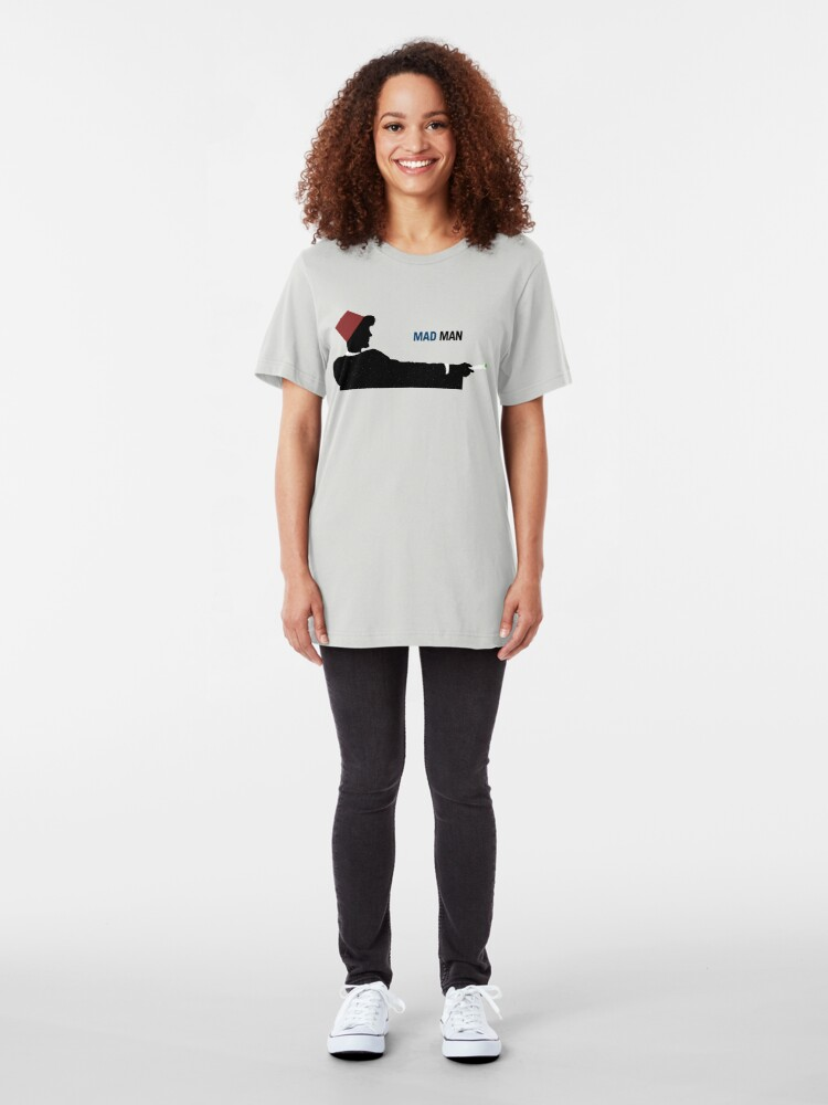 Alternate view of Mad Man (with a Box) Slim Fit T-Shirt
