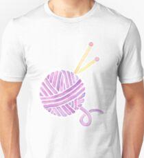 Ball of Yarn - Knitting Watercolor T-Shirt