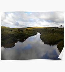 Reflection of Clouds in River Dart Poster