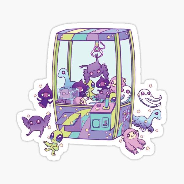 Cryptid Crane Game Machine Sticker