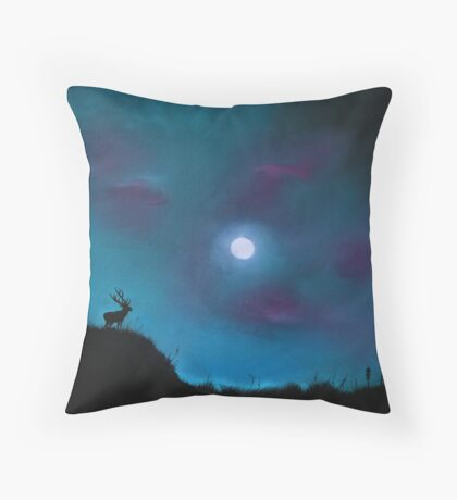 Mystery Over Northern Lights Throw Pillow
