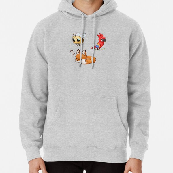 Minecraft Parrot, Bee, and Fox set Pullover Hoodie