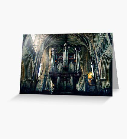 Organ at Exeter Cathedral Greeting Card