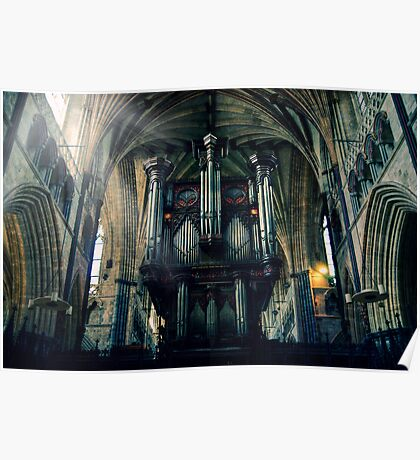Organ at Exeter Cathedral Poster