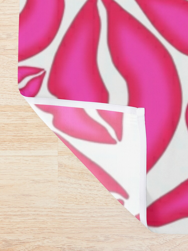 Alternate view of Pink Lips Pattern Shower Curtain