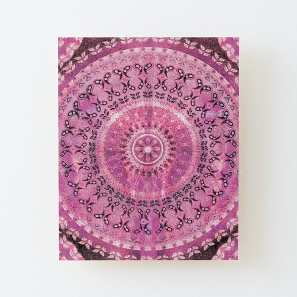 Rose Mandala Wood Mounted Print