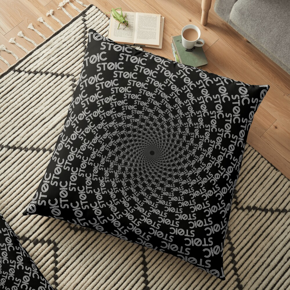 Stoics Are Made Not Born Floor Pillow