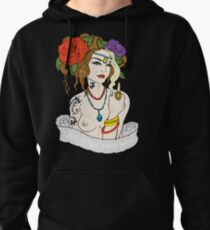 Tattoo Girl Pullover Hoodie