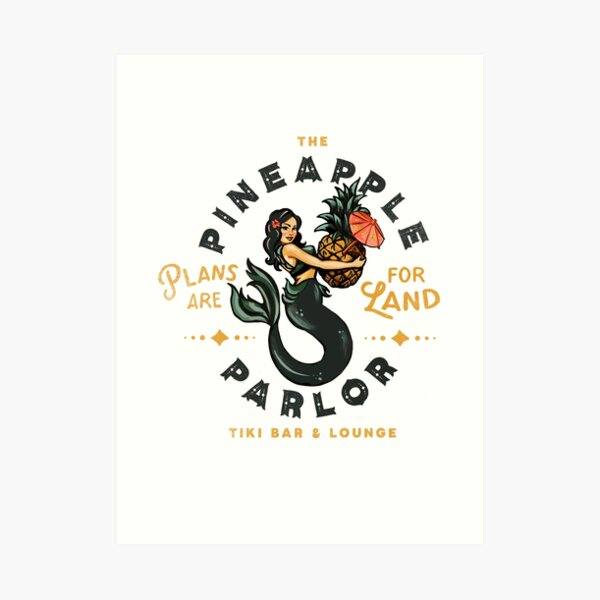 Pinup Girl Mermaid: The Pineapple Parlor Art Print