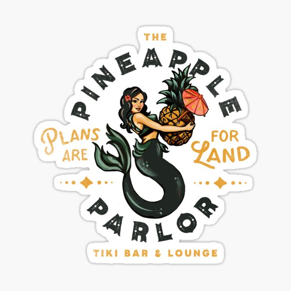 Pinup Girl Mermaid: The Pineapple Parlor Sticker