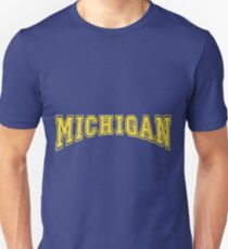 MICHIGAN for Blue Backgrounds T-Shirt