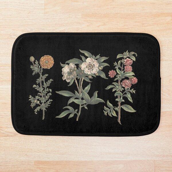 Vintage Flower Chart Bath Mat