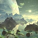Planet Rise over New Eden by Angela Harburn