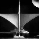 Milwaukee Art Museum on a Moon Lit Night ©  by Dawn Becker