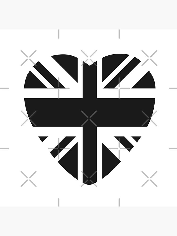British Patriot Flag Series (Black Heart) by carbonfibreme