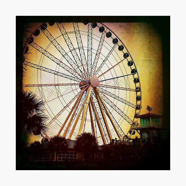 Winter Wheel Photographic Print