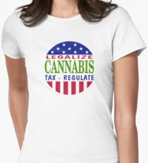 Legalize Cannabis Marijuana Womens Fitted T-Shirt