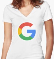 Google G Women's Fitted V-Neck T-Shirt