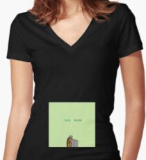 Insect gain money Women's Fitted V-Neck T-Shirt