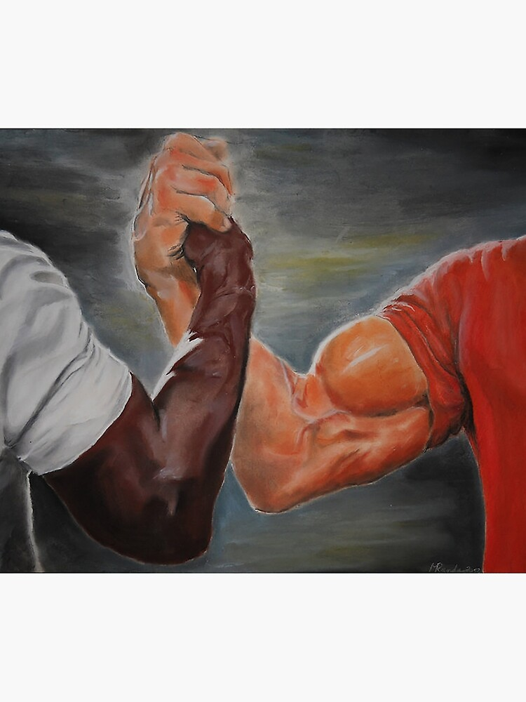 """""""Epic Handshake Meme"""" Tapestry by FlashmanBiscuit   Redbubble"""