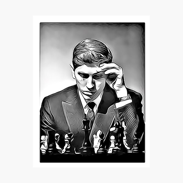 Bobby Fischer Chess Genius Photographic Print
