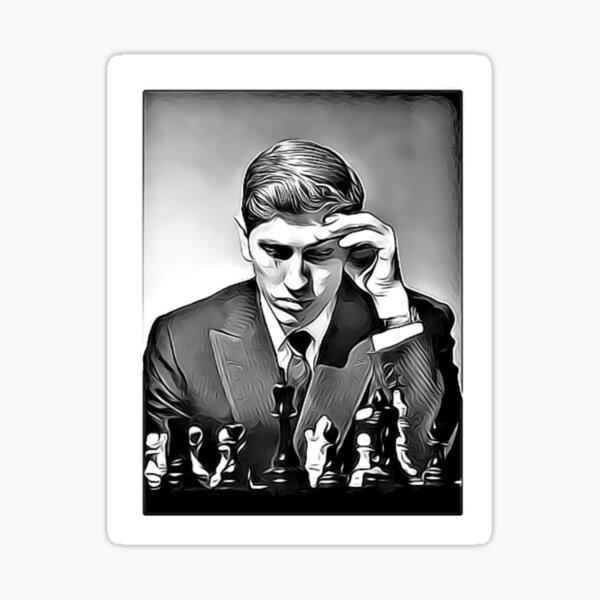 Bobby Fischer Genius Chess Sticker