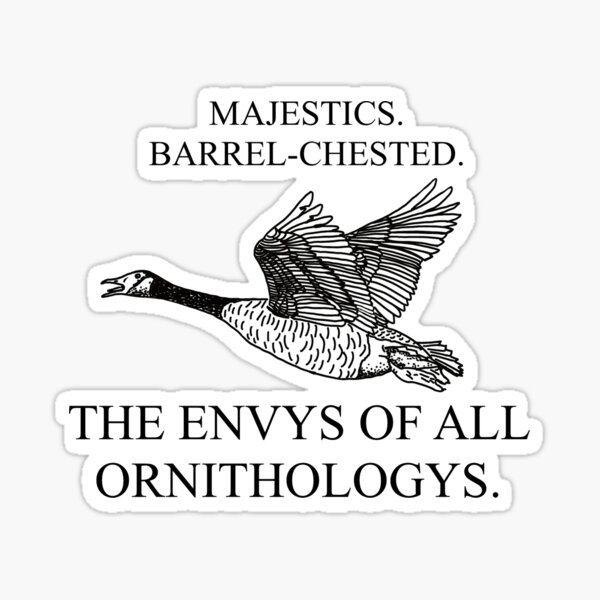 The Envys of All Ornithologys - black Sticker