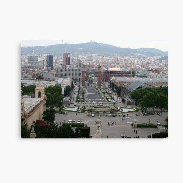 Barcelona - Place d'Espania from National Palace Canvas Print