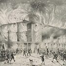 Vintage Firefighting Print (Pennsylvania Hall Fire) by GumptionLLC