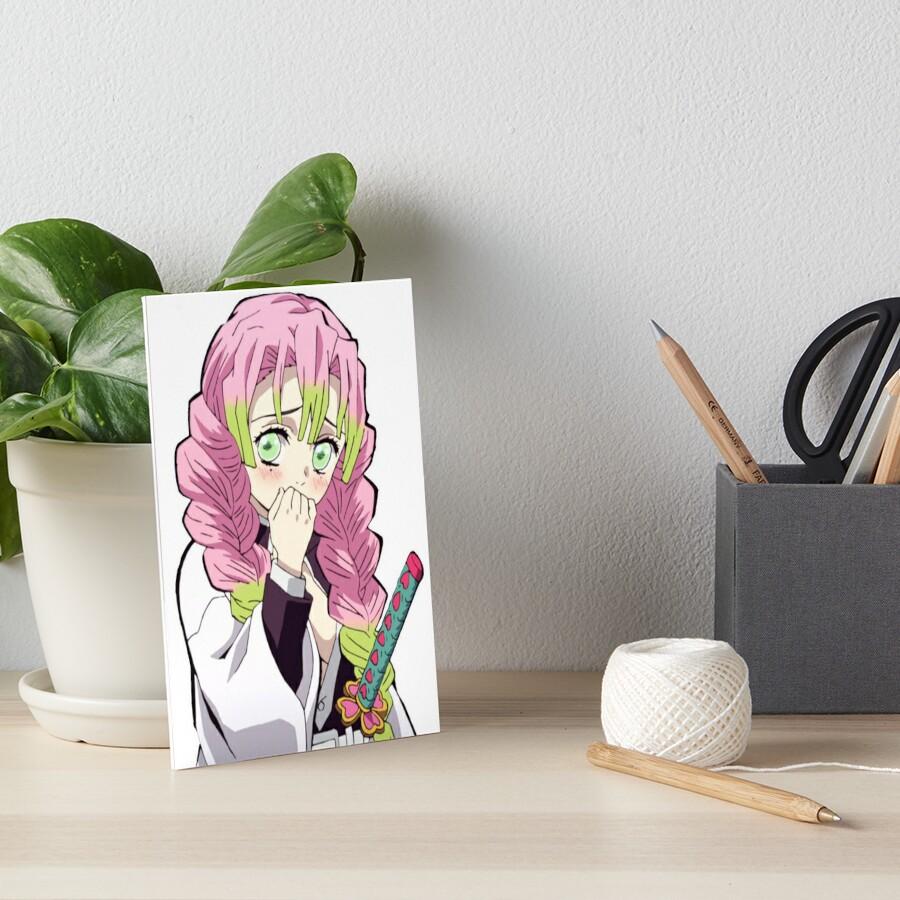 Mitsuri Kanroji Love Hashira Demon Slayer Kimetsu No Yaiba Art Board Print By Wabobabo Redbubble #mitsuri #kimetsu no yaiba #demon slayer #kanroji mitsuri #mitsuri kanroji #kimetsu mitsuri #demon slayer mitsuri #if we got the full image of smiley mitsu my life would be better. redbubble