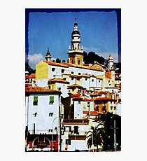 sunny memories of Menton Photographic Print