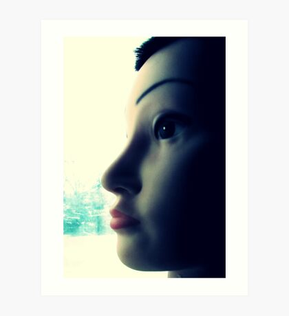 Mandy the Giant Head Contemplates the Meaning of Christmas Art Print
