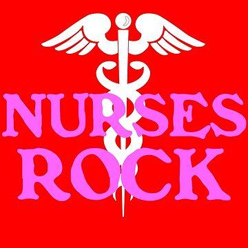 Nurses rock geek funny nerd by jekonu