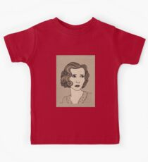 1920s Vintage Female Portrait 1 Kids Tee