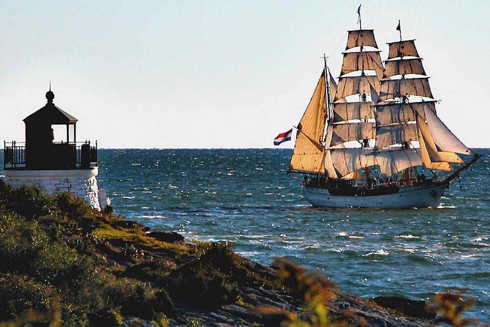 Newport, RI, a tall sailing ship by Joe Bashour