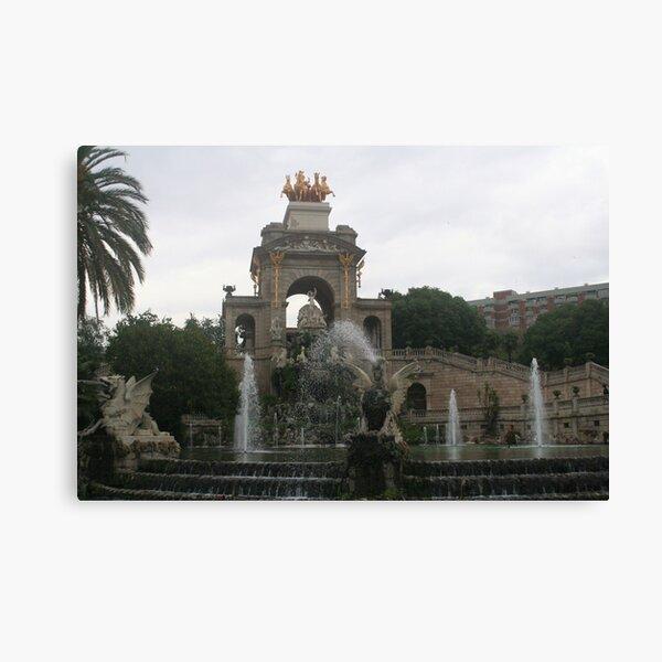 Barcelona - Fountain by Gaudi et. al. in Parc de La Ciutadella Canvas Print