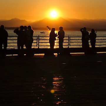 Seattle people at sunset...in Seattle. by JenRyan
