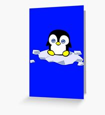Penguin geek funny nerd Greeting Card