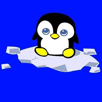 Penguin geek funny nerd by jekonu