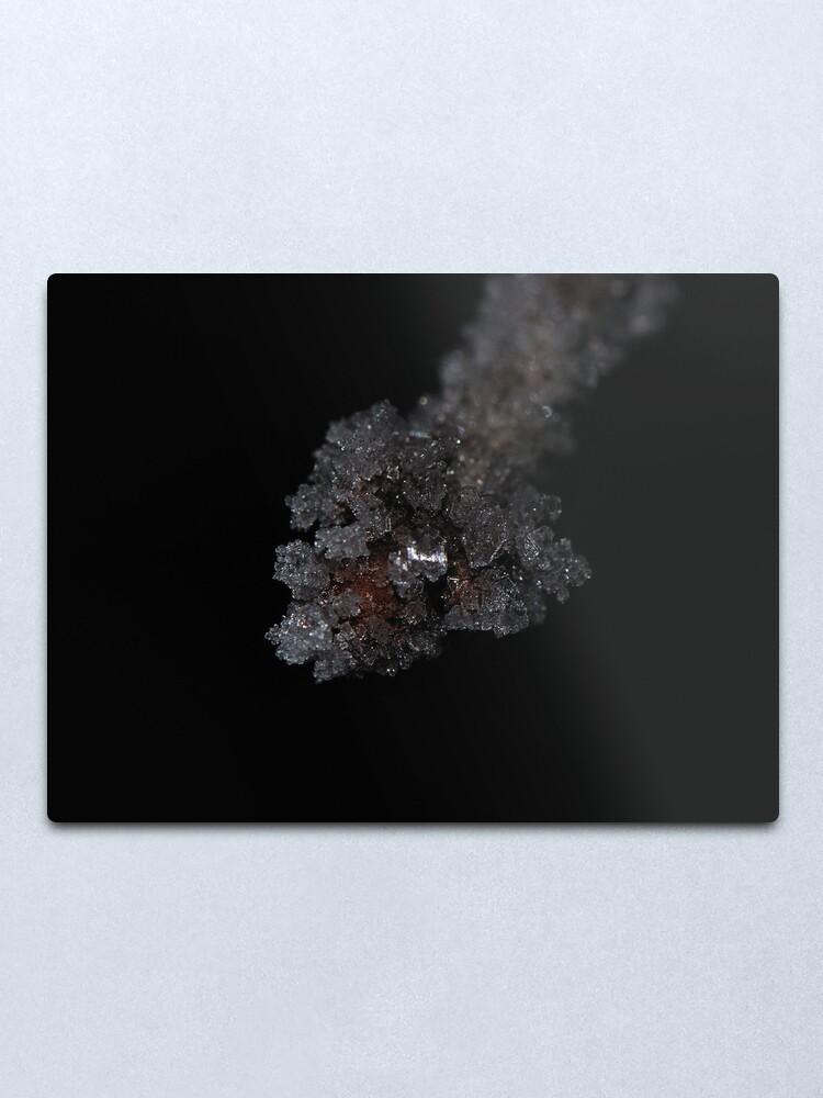 Alternate view of Ice Node Metal Print