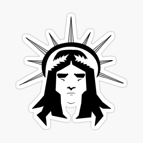 El Dios Emperador de la Humanidad Pegatina