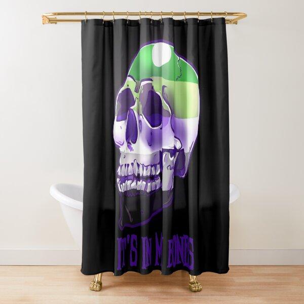 Aromantic Pride: It's In My Bones Shower Curtain