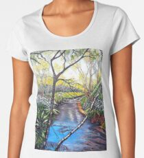 Snow at Katoomba Creek - Blue Mountains Premium Scoop T-Shirt