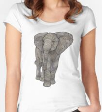 Adolescelephant Fitted Scoop T-Shirt