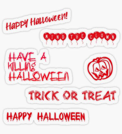 Halloween Sticker Pack 1 Transparent Sticker