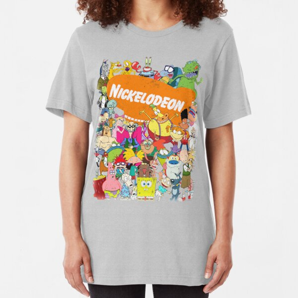 90er Nick Toons in Hülle und Fülle! Slim Fit T-Shirt
