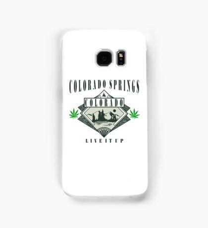 "Marijuana Colorado Springs ""Live It Up"" Samsung Galaxy Case/Skin"